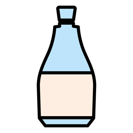 Water bottle icon over white background, vector illustration