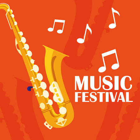 saxophone classical instrument icon vector illustration design