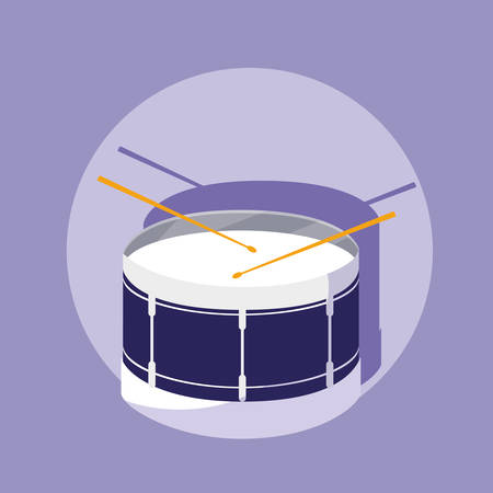 percution drum musical instrument vector illustration design