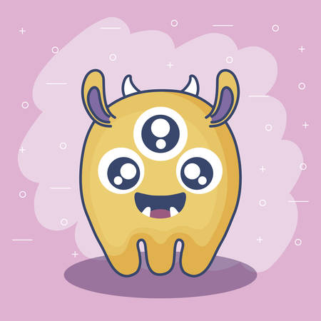 cute monster card icon vector illustration design Vektorgrafik