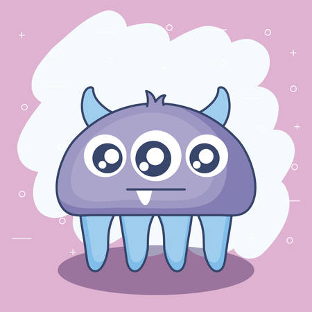 cute monster card icon vector illustration design Ilustração