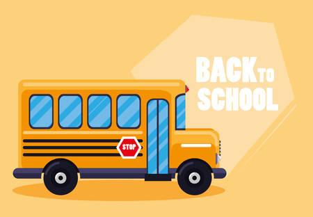 school bus transport icon vector illustration design