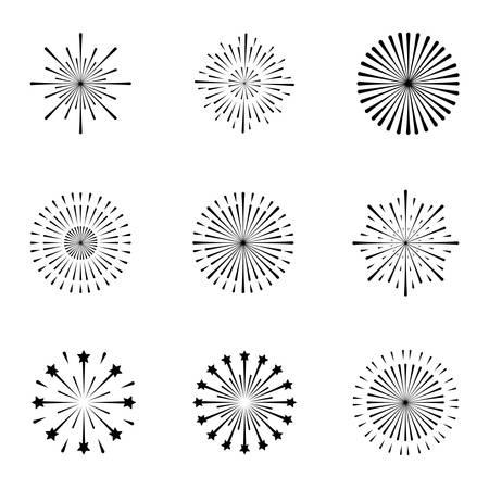 set of monochrome splash lights vector illustration design Archivio Fotografico - 126349249