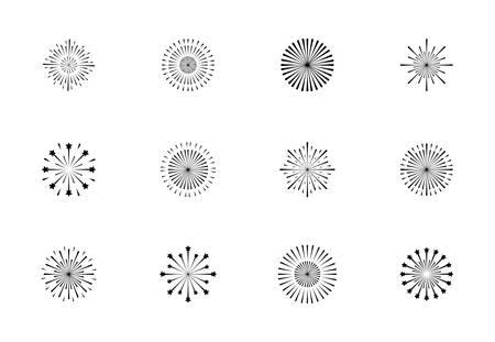 set of monochrome splash lights vector illustration design Archivio Fotografico - 115061197
