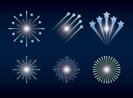 mardi gras set splash lights vector illustration design Stock Vector - 115061198