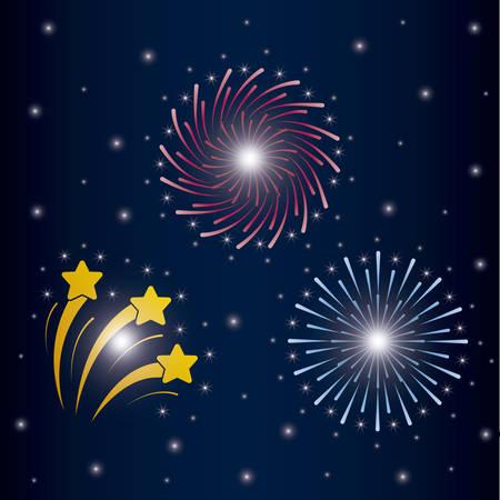 mardi gras set splash lights vector illustration design Stock Vector - 114881509