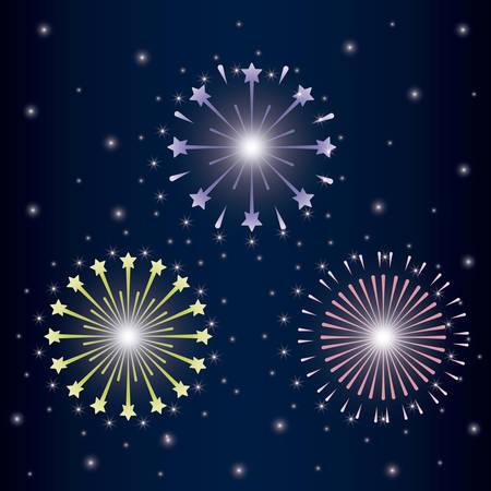 mardy gras splash lights pattern vector illustration design Stock Vector - 126349346
