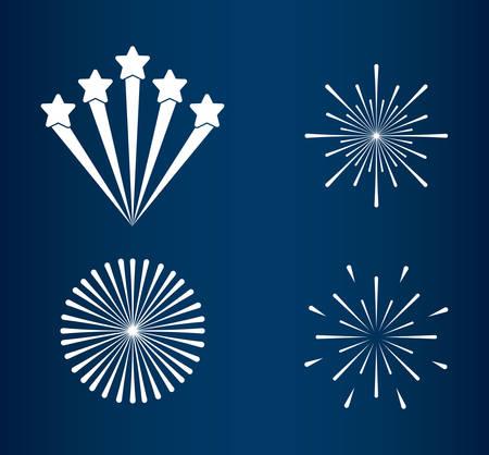 mardi gras set splash lights vector illustration design Stock Vector - 114881508
