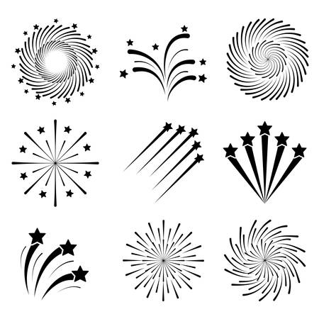 set of monochrome splash lights vector illustration design Archivio Fotografico - 126349369