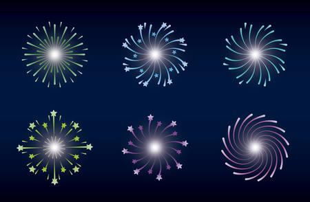 mardi gras set splash lights vector illustration design