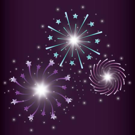 mardy gras splash lights pattern vector illustration design Stock Vector - 126349474