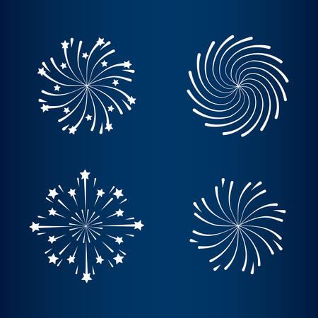 mardi gras set splash lights vector illustration design Stock Vector - 126349492