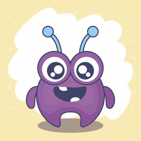 cute monster card icon vector illustration design Иллюстрация