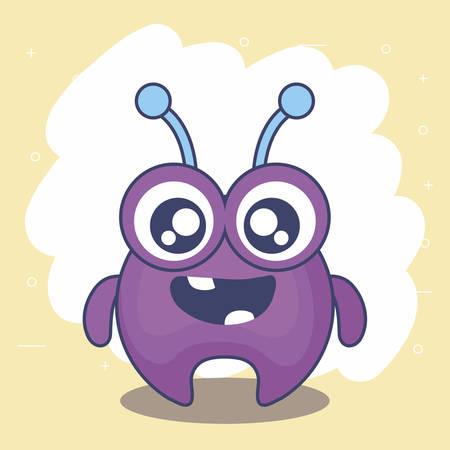 cute monster card icon vector illustration design Illustration
