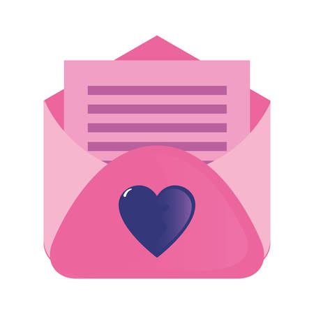mail letter paper love happy valentines day vector illustration Ilustrace