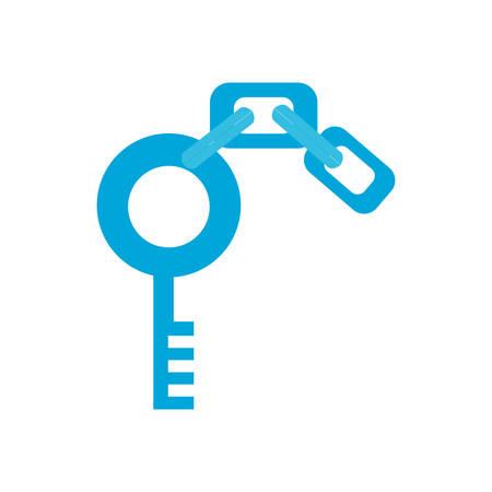 key door security icon vector illustration design Illustration