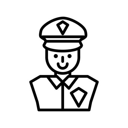 security agent avatar icon vector illustration design