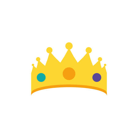 crown king luxury isolated icon vector illustration design