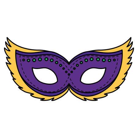 carnival mask accessory icon vector illustration design