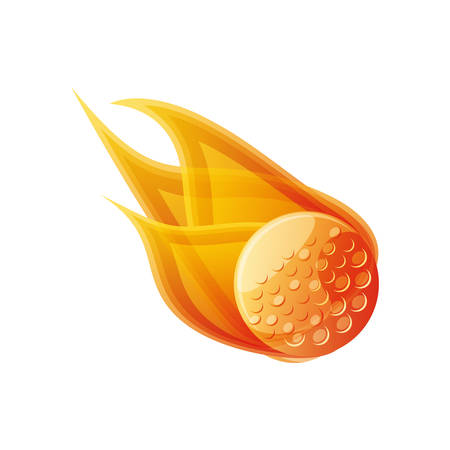 golf ball with flames isolated icon vector illustration design
