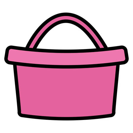 cute basket isolated icon vector illustration design