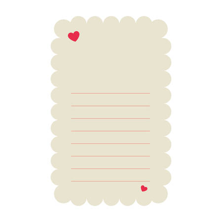cute Love Letter with hearts vector illustration design Çizim