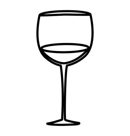 wine cup isolated icon vector illustration design Ilustração