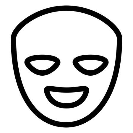 maschere teatrali felici icona isolata illustrazione vettoriale design Vettoriali