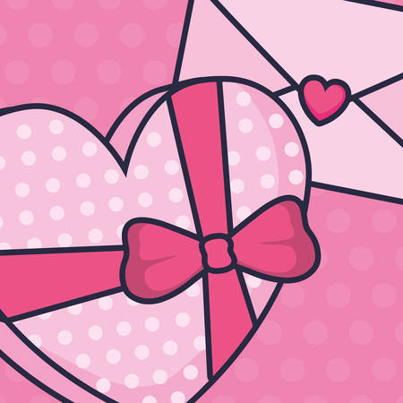 envelope with heart icon vector illustration design Stock Illustratie
