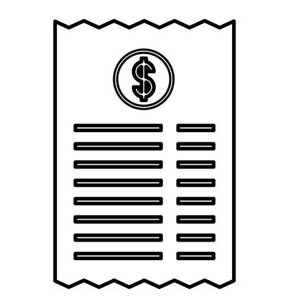 invoice icon over white background, vector illustration