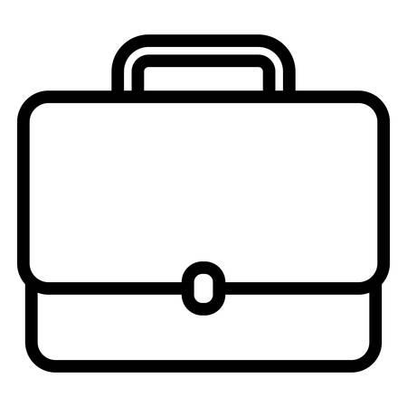Icono de cartera de negocios sobre fondo blanco, ilustración vectorial