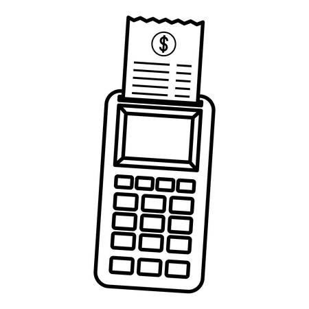 Dataphone device over white background, vector illustration