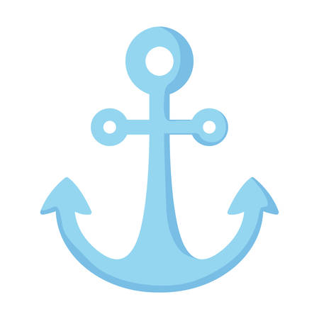anchor icon over white background, vector illustration Archivio Fotografico - 125996172