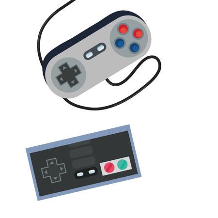 video game console control play vector illustration Ilustração Vetorial