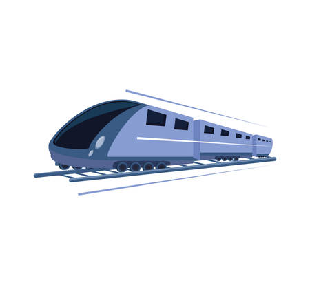 fast train isolated icon vector illustration design