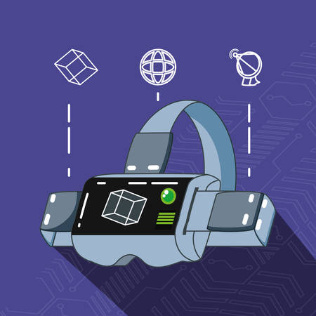 video game technology set gadgets vector illustration design Illustration