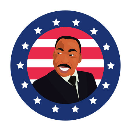 martin luther king portrait symbol vector illustration Иллюстрация