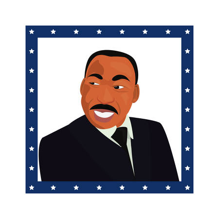 martin luther king portrait symbol vector illustration Illustration