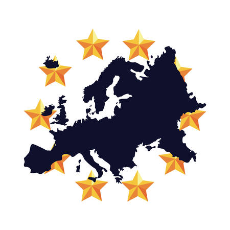 european union copyright of intellectual vector illustration Illustration