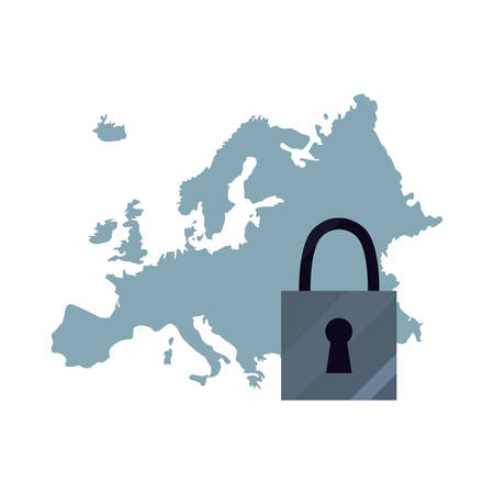 european union security data copyright of intellectual vector illustration Illustration