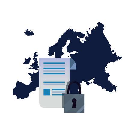 european union contract digital copyright of intellectual vector illustration Stock Vector - 125773359