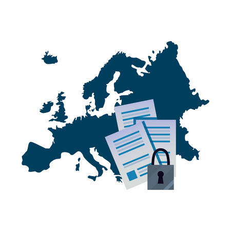 european union contract digital copyright of intellectual vector illustration Illustration