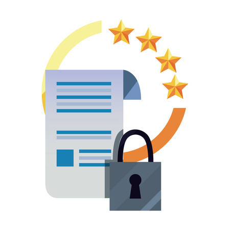 patent contract data security copyright vector illustration Stock Vector - 125773396