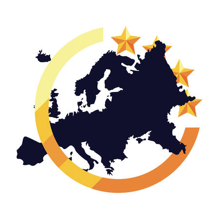 european union digital copyright of intellectual vector illustration Stock Illustratie