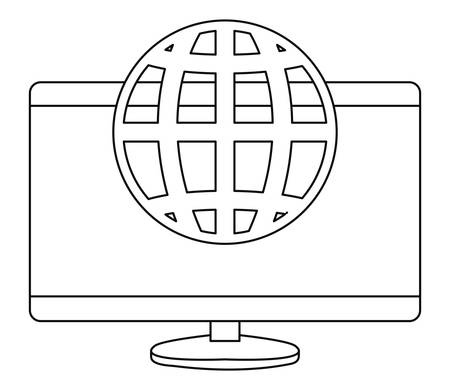 computer digital world protection copyright vector illustration