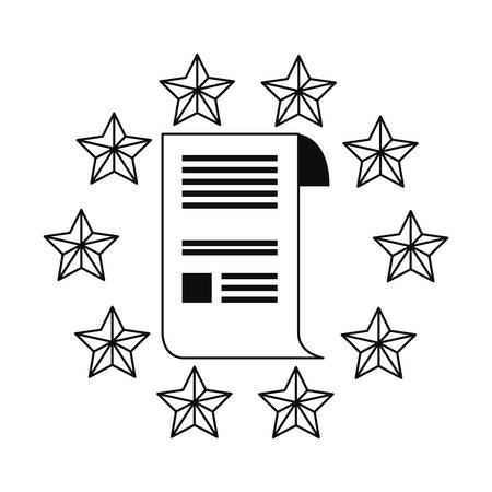 patent contract security stars copyright emblem vector illustration  イラスト・ベクター素材