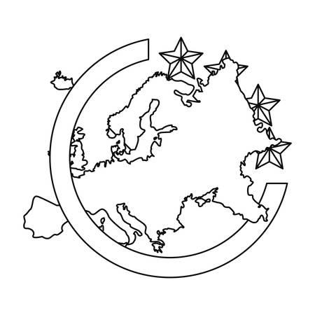 european union digital copyright of intellectual vector illustration Illusztráció