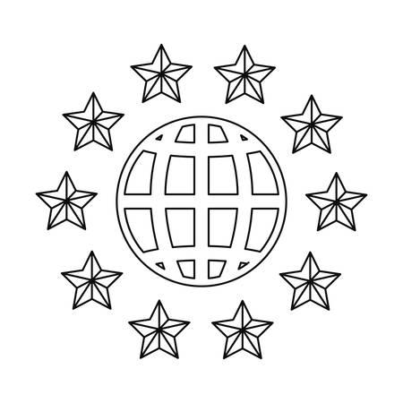world copyright  of intellectual sign vector illustration Illustration