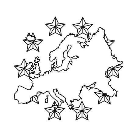 european union copyright of intellectual vector illustration Illustration