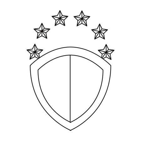 shield protection stars copyright of intellectual vector illustration